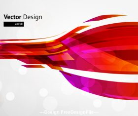 Red futuristic bend background vector