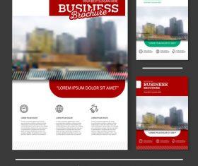 Red white Brochure cover design vector