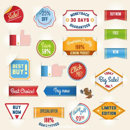 Retro label sticker vector