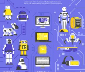 Robots Infographics vector