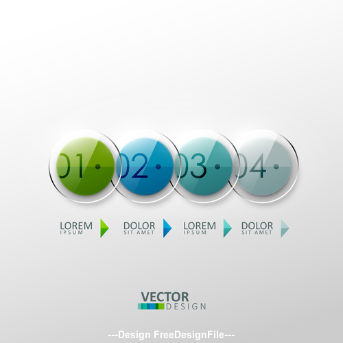 Round glass graphic and arrow design vector