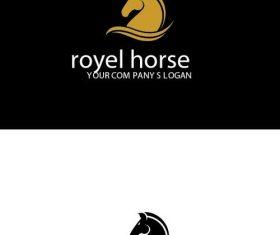 Royal horse logo vector