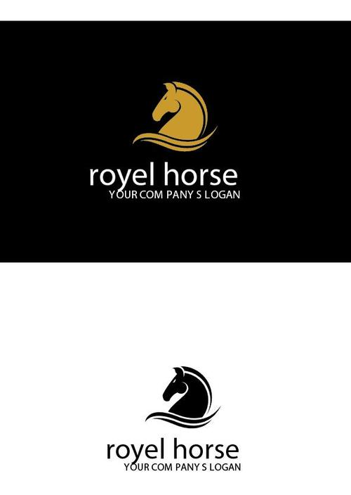 Royal horse logo vector