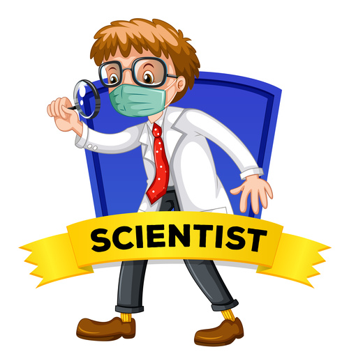 Scientist occupation word card vector