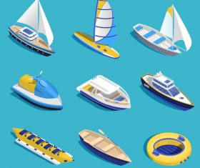 Sea activities illustration vector