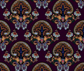 Seamless floral pattern paisley ornament vector