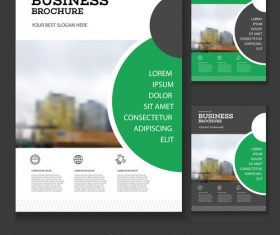 Semicircular Business Brochure design vector