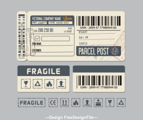 Shipment label vector