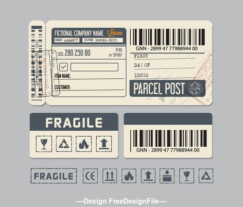 Shipment label vector