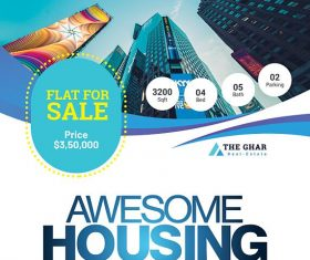 Side Real Estate Apartment Sales Flyer PSD Template