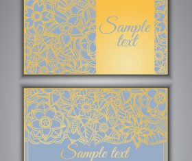 Silver background floral ornamental card vector