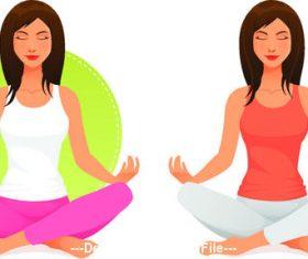 Sister meditation vector