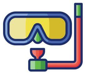 Snorkeling cartoon vector