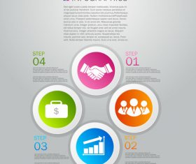 Social Infographics design template vector