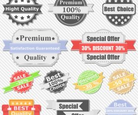 Special offer sale label design element vector