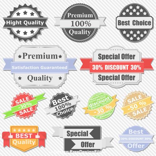 Special offer sale label design element vector