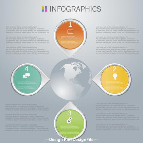 Sphere Infographics design template vector
