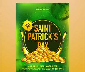 St patrkks day sale poster vector