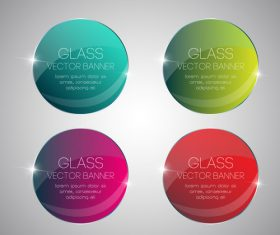 Stained glass banner on white background vector