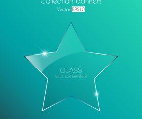 Star glass vector