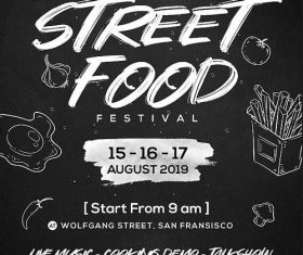 Street Food Festival Flyer PSD Template