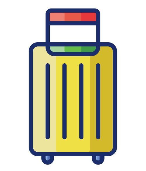 Suitcase cartoon vector