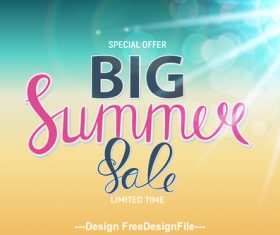 Summer Big Sale speech bubbles vector