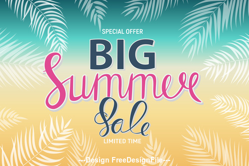 Summer Big Sale speech vector