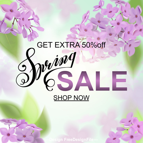 Summer get extra discount ad template vector