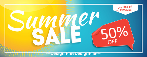 Summer half price sale label vector