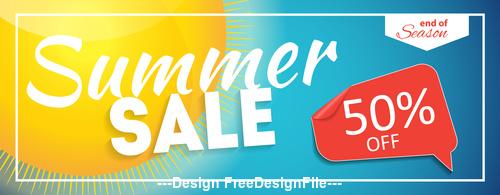 Summer half price sale label vector