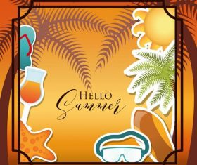 Summer holiday illustration vector
