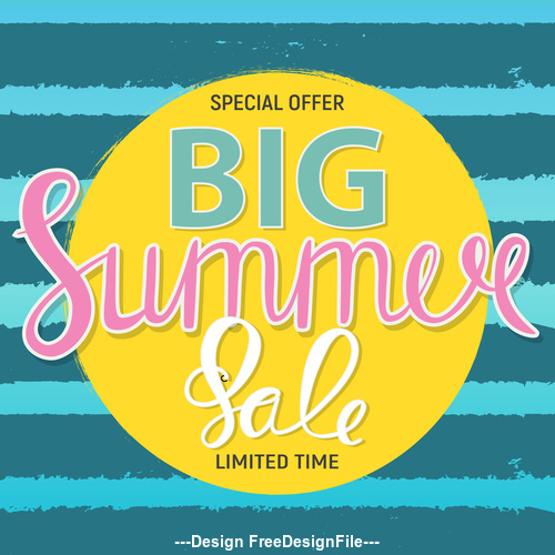 Summer special offer big sale cover vector