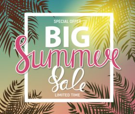 Summer special offer big sale vector