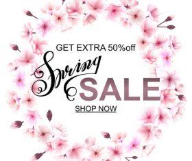 Summer wreath sale template vector