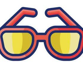 Sun glasses cartoon vector
