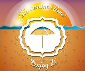 Sunny beach in summer vector