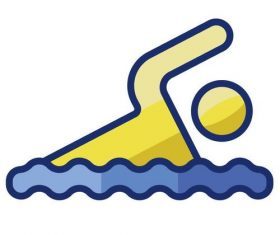 Swimming cartoon vector