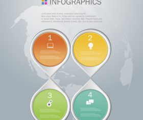 Symmetrical diamonds Infographics design template vector
