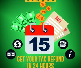 Tax refund flyer psd template 01