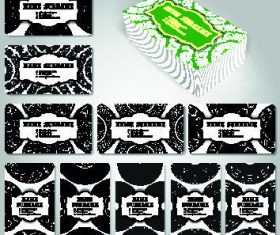 Template commercial black cards set vector