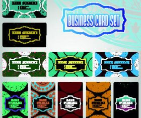 Template commercial cards set vector