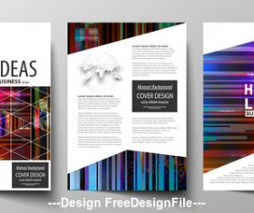 Template design and instructions vector