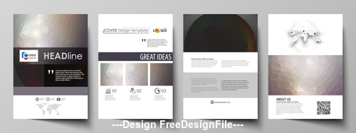 Templates for bi fold brochure vector
