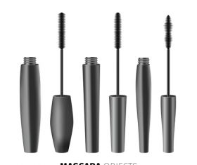 Three style mascaras vector