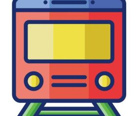 Train cartoon vector