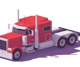 Truck 3d isometric vector