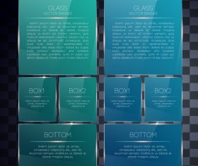 Two color glass banners vector