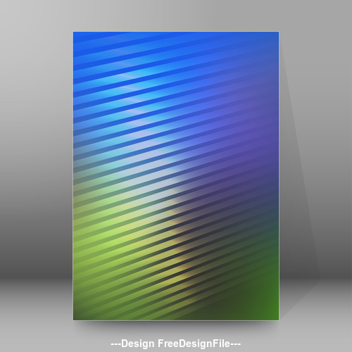 Two color report brochure cover vector