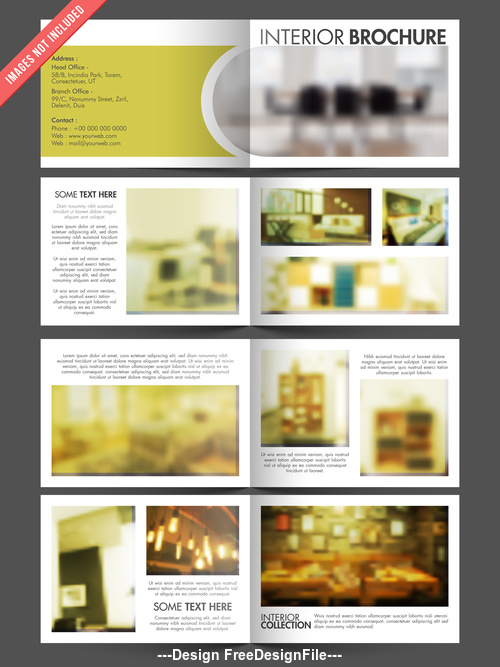 Upholstery design brochure vector